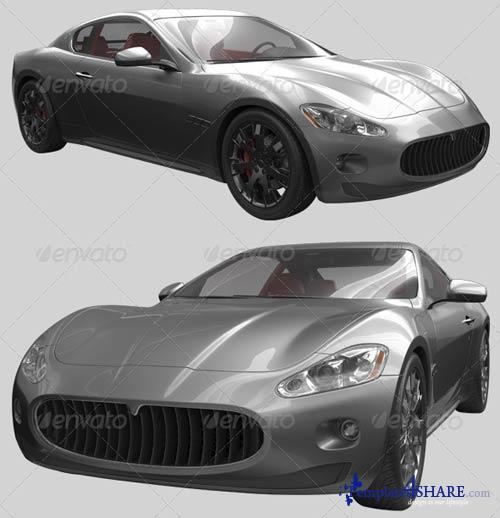 GraphicRiver 3D Sport Car