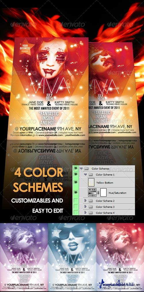 GraphicRiver Viva Event Flyer