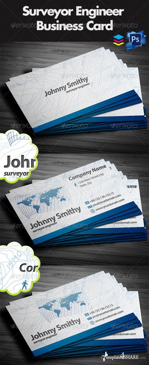 GraphicRiver Surveyor Business Cards