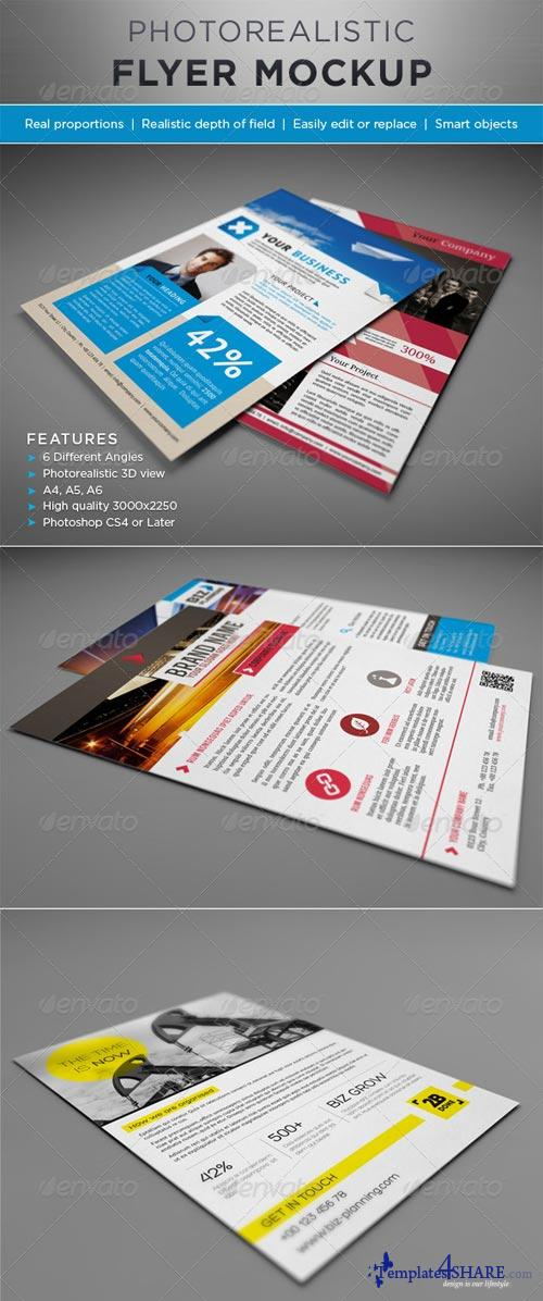 GraphicRiver Photorealistic Flyer Mock-ups