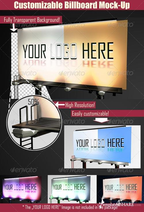 GraphicRiver Customizable Billboard Mock-up
