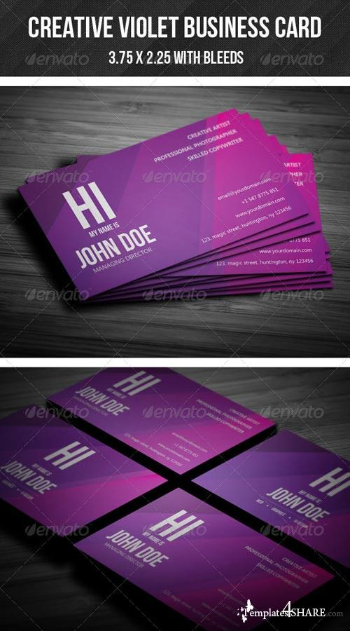 GraphicRiver Creative Violet Business Card - 02