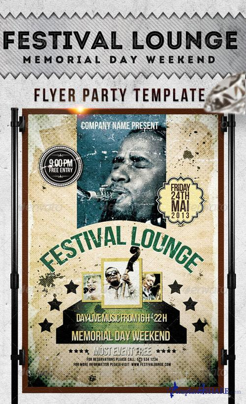 GraphicRiver Festival Lounge Flyer Template