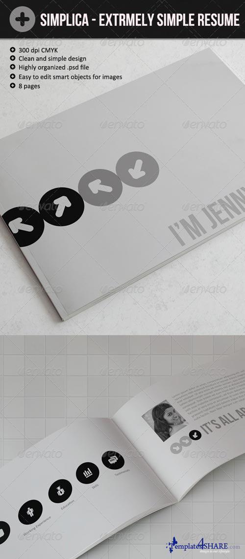 GraphicRiver Simplica - Ultra Simple Resume Book
