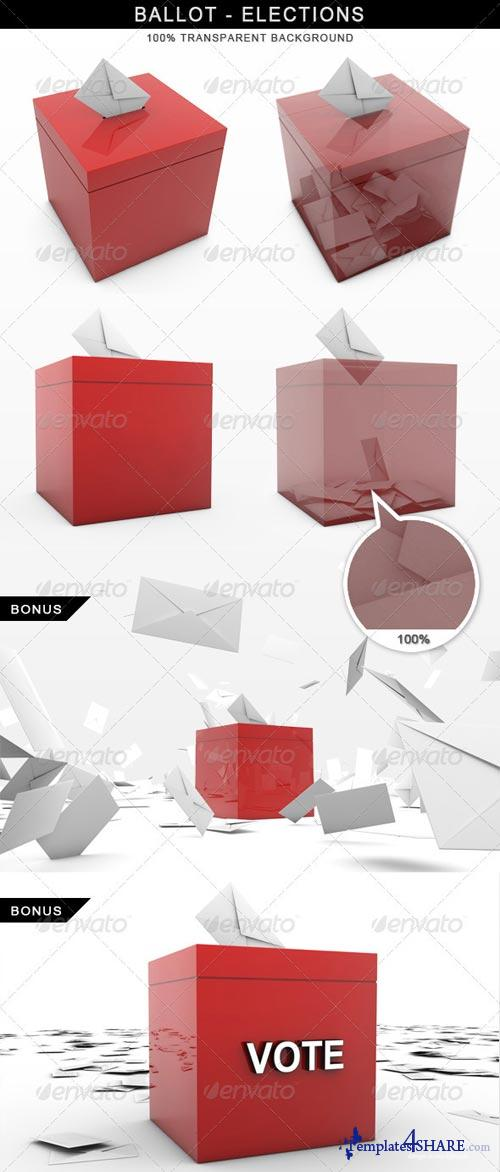 GraphicRiver Ballot Elections Vote 3D