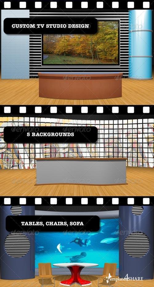 GraphicRiver Custom TV Studio Design
