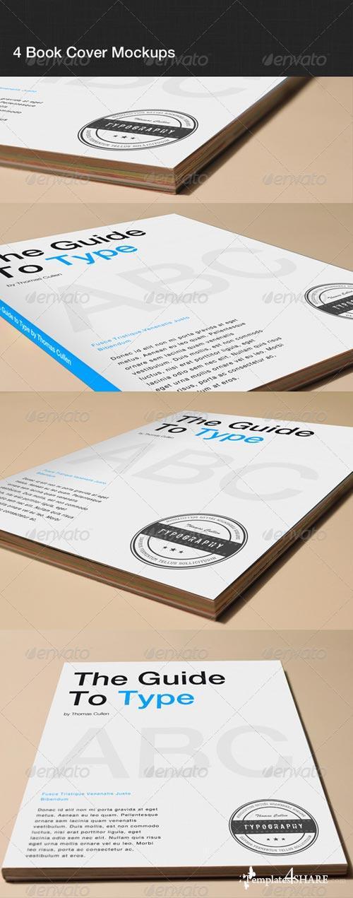 GraphicRiver 4 Book Cover Mockups
