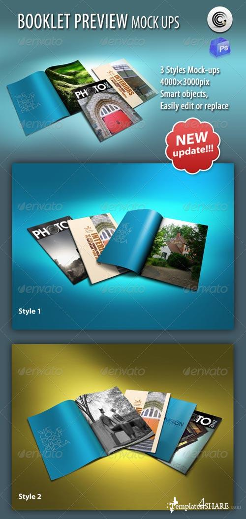 GraphicRiver Thin Booklet Preview Mock-up