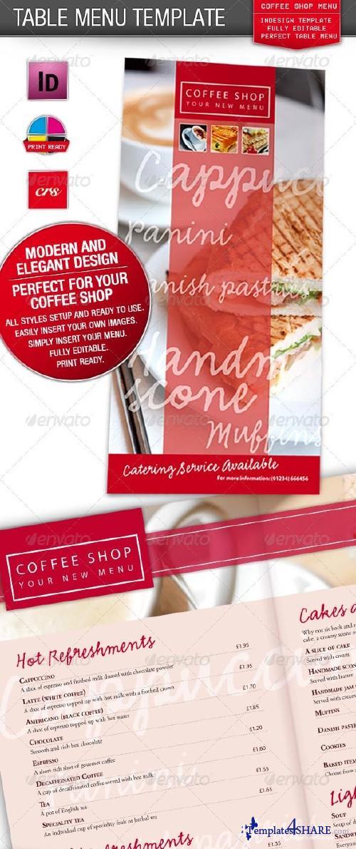 GraphicRiver Cafe, Coffee Shop / Restaurant Menu