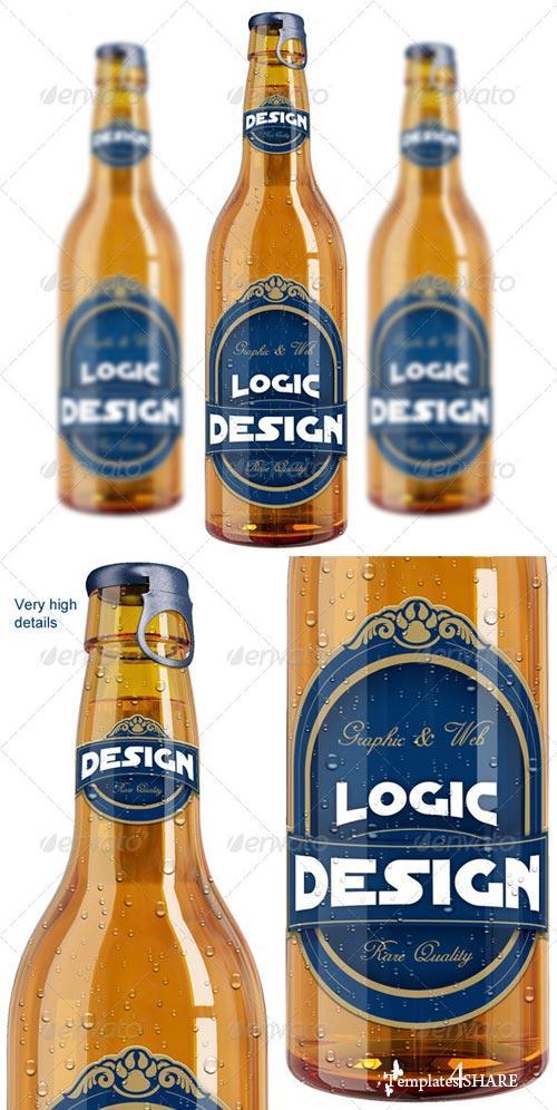 GraphicRiver Bottle Beer Mock Up