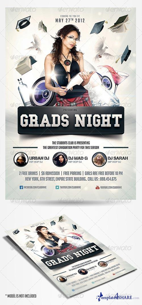 GraphicRiver Graduation Prom Flyer
