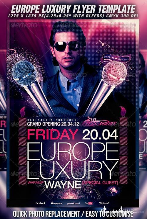 GraphicRiver Europe Luxury Flyer Template