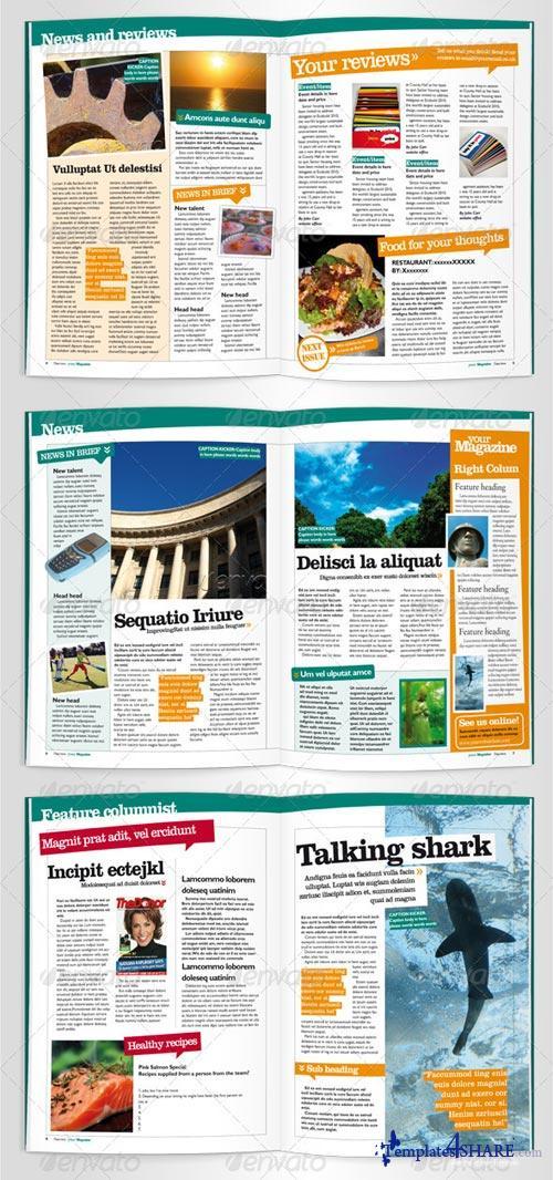 GraphicRiver Vibrant Magzine Indesign Template