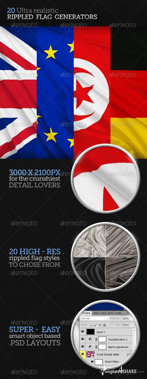 GraphicRiver Rippled Flag Generator