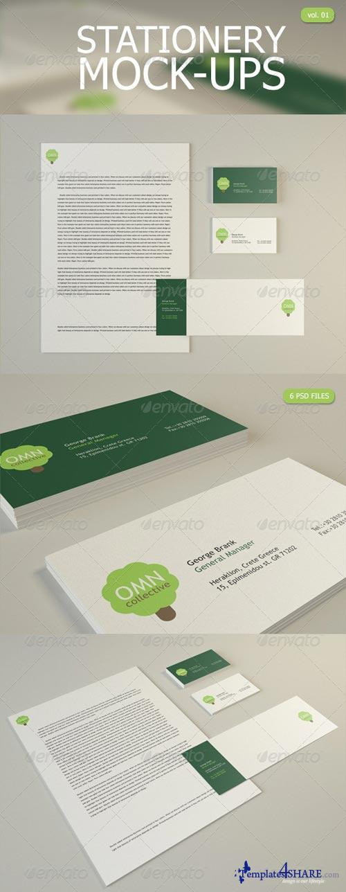 GraphicRiver Stationery Mock Up