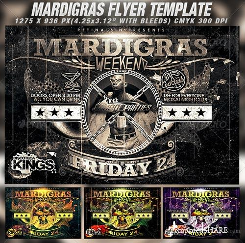 GraphicRiver Mardigras Weekend Flyer Template