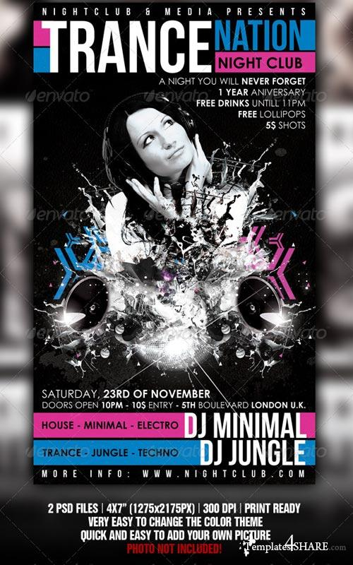 GraphicRiver Trance Flyer Template