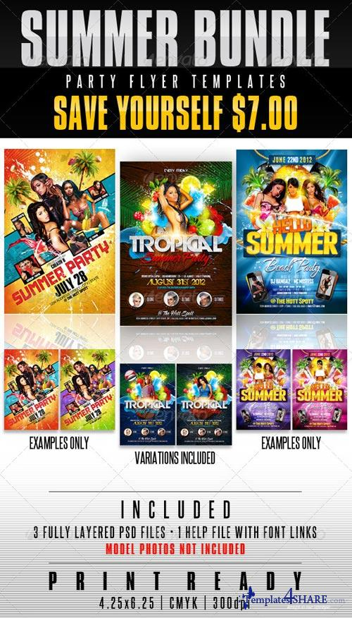 GraphicRiver Summer Party Flyer Templates Bundle