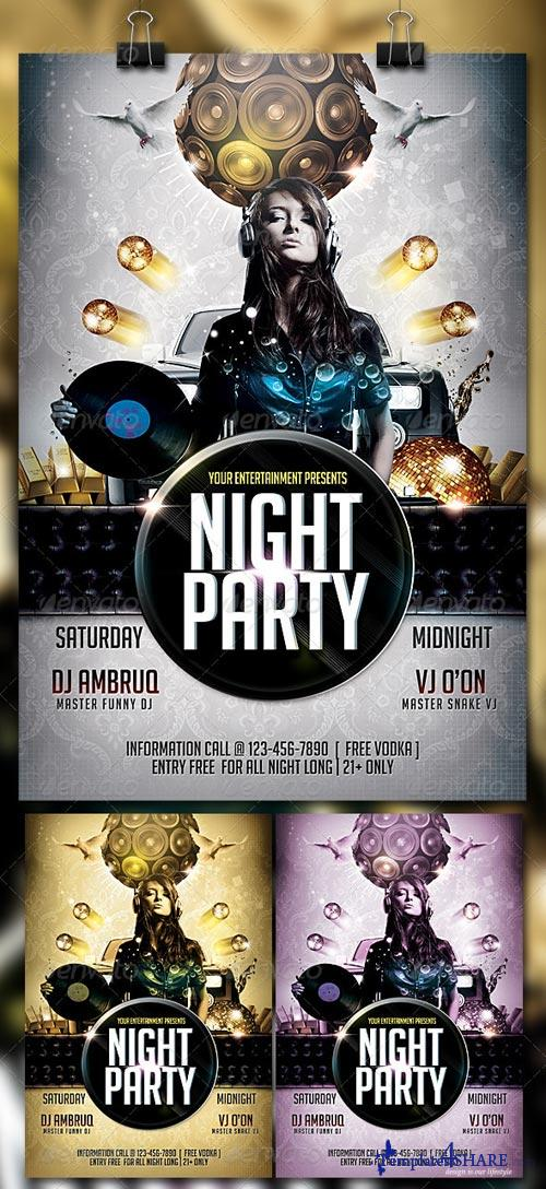 GraphicRiver Night Party Flyer