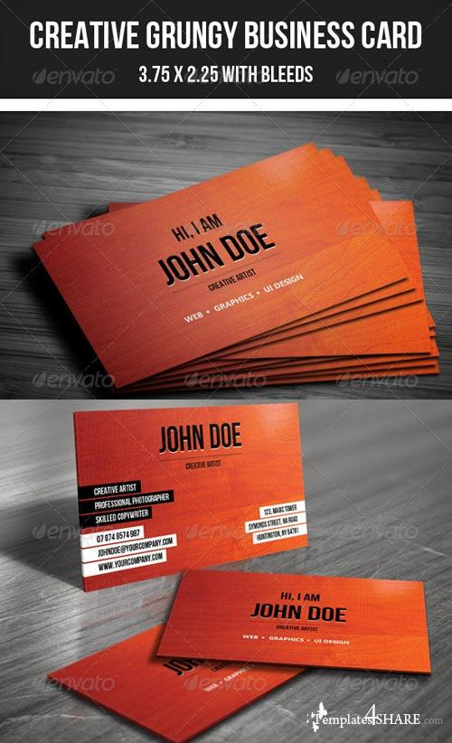 GraphicRiver Creative Grungy Business Card - 26