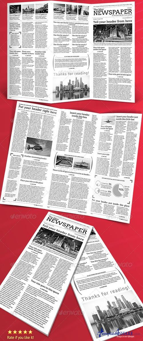 GraphicRiver Mini Newspaper Trifold Template!