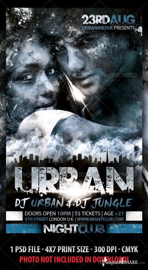 GraphicRiver Urban Party Flyer 2731509