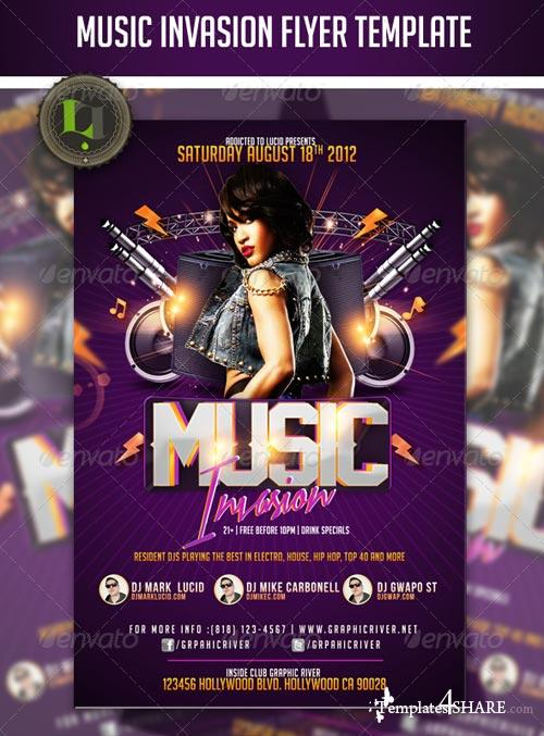 GraphicRiver Music Invasion Flyer Template