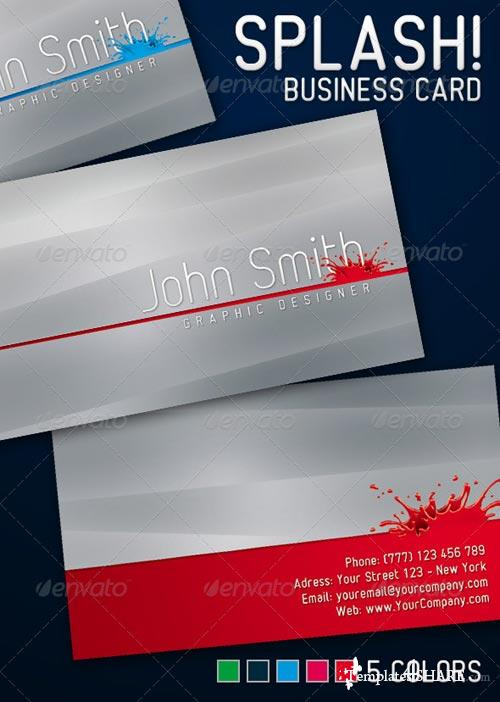 GraphicRiver Splash Business Card 224393