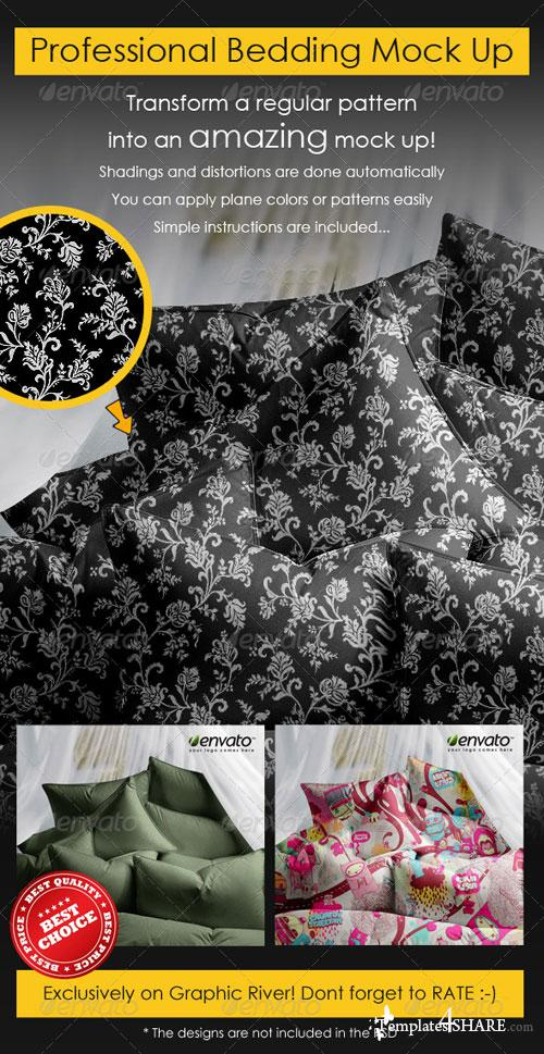 GraphicRiver Professional Bedding Mock Up