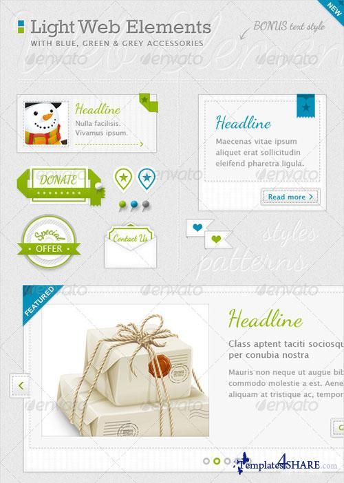 GraphicRiver Light Web Elements