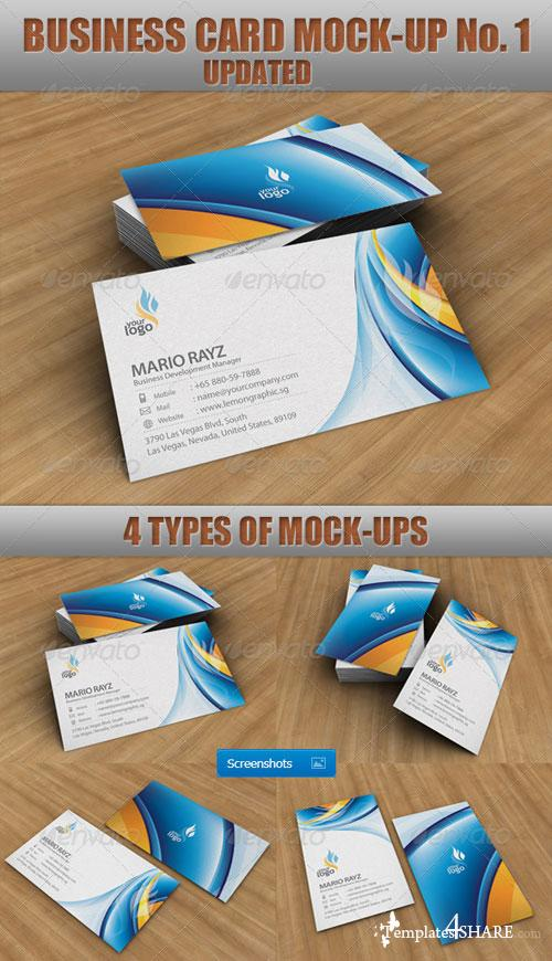 GraphicRiver Business Card Mock-Up No.1