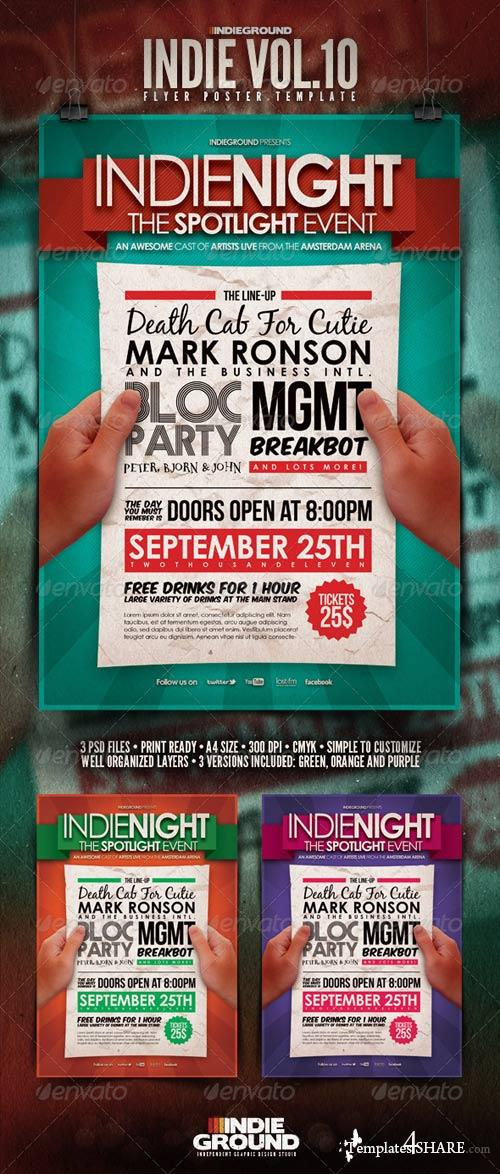 GraphicRiver Indie Flyer/Poster Vol. 10