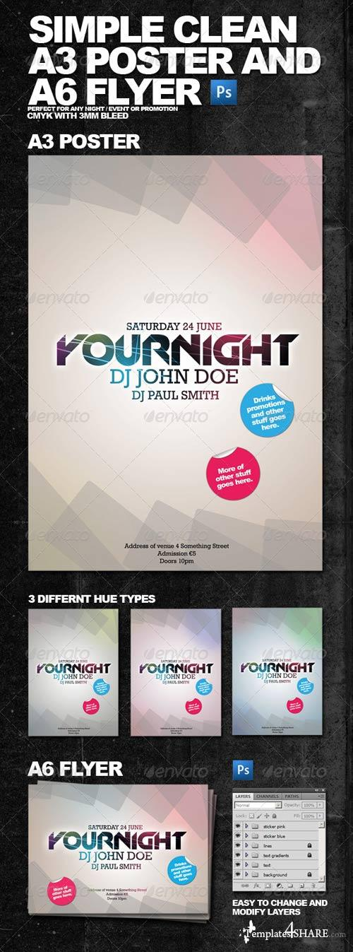 GraphicRiver Clean Simple A3 Poster and A6 Flyer