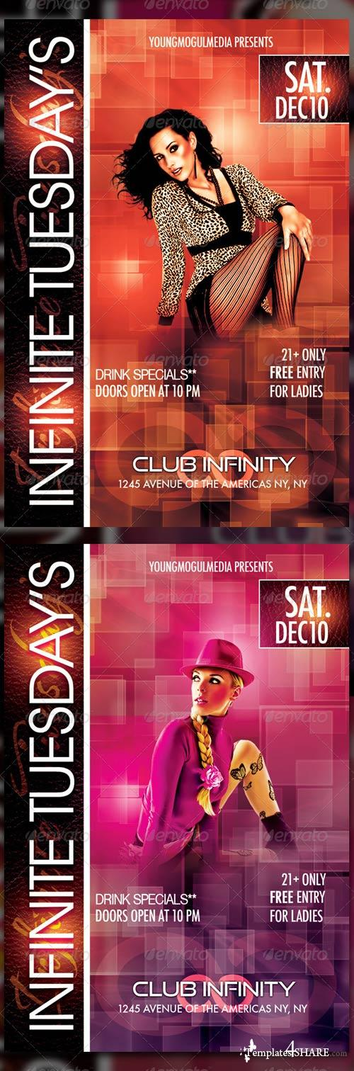 GraphicRiver Infinite Tuesday's Flyer Template