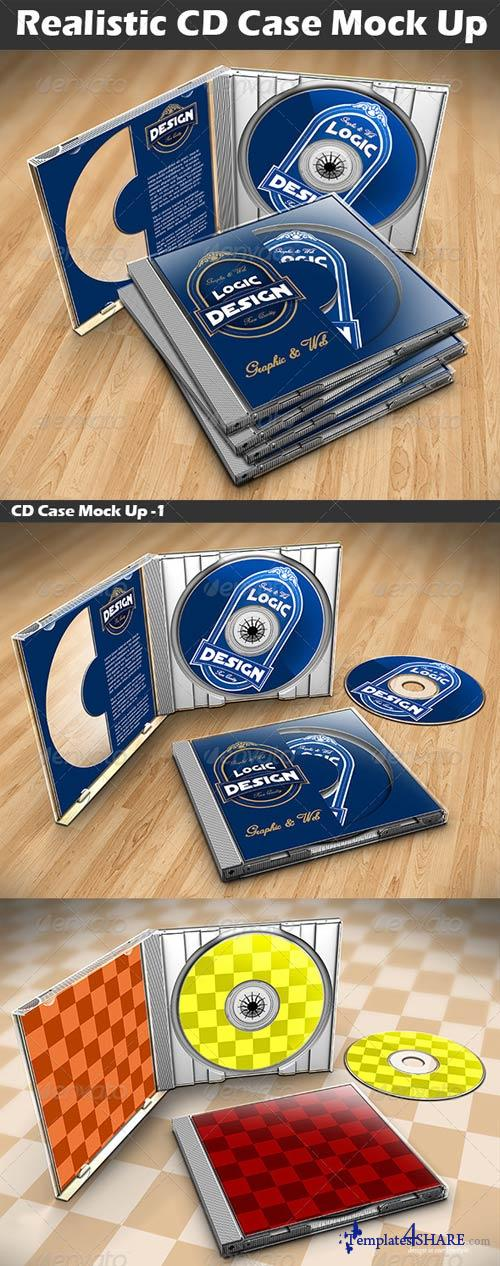 GraphicRiver CD Case Mock Up