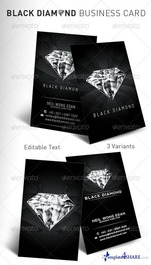 GraphicRiver Black Diamond Business Card
