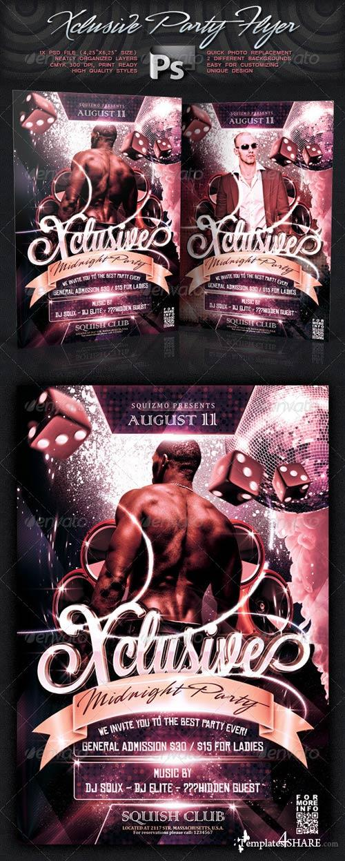 GraphicRiver Xclusive Party Flyer