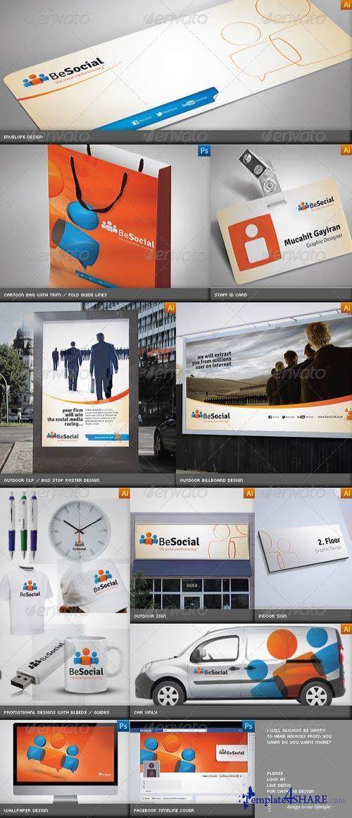 GraphicRiver Social Media Corporate Identity Catalog v5