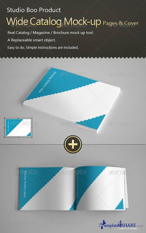 GraphicRiver Wide Catalog / Magazine Mock-up InnerPages & Cover