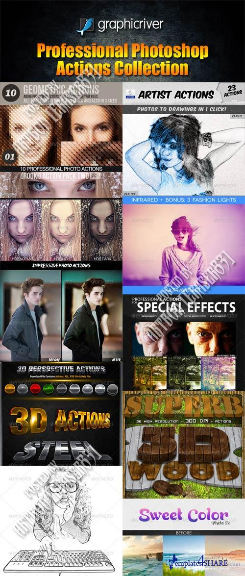 GraphicRiver Professional Photoshop Actions Collection