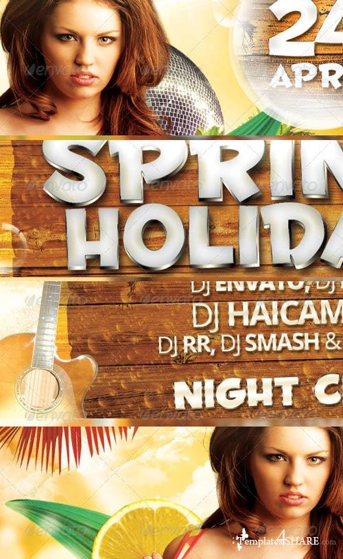 GraphicRiver Spring Holiday Party Flyer
