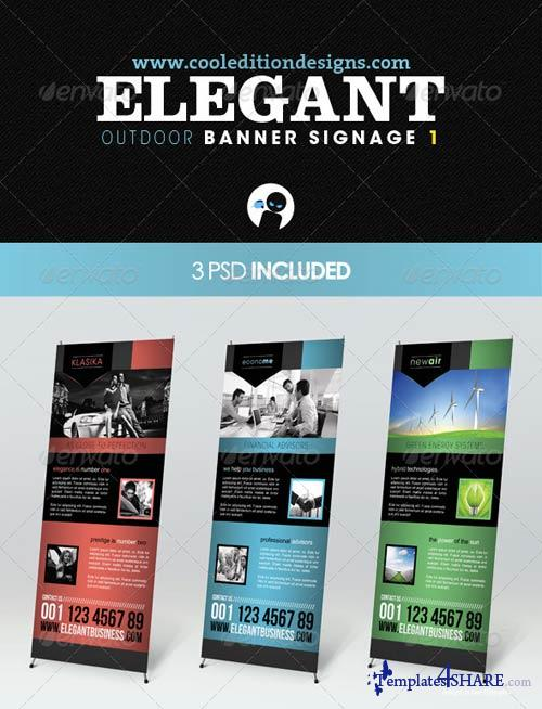 GraphicRiver Elegant Outdoor Banner Signage 1