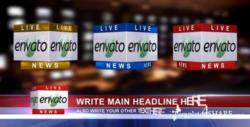3D News Logo & Lower Third Ver. 1.1 (In 3 Colors) - Project for After Effects (Videohive)