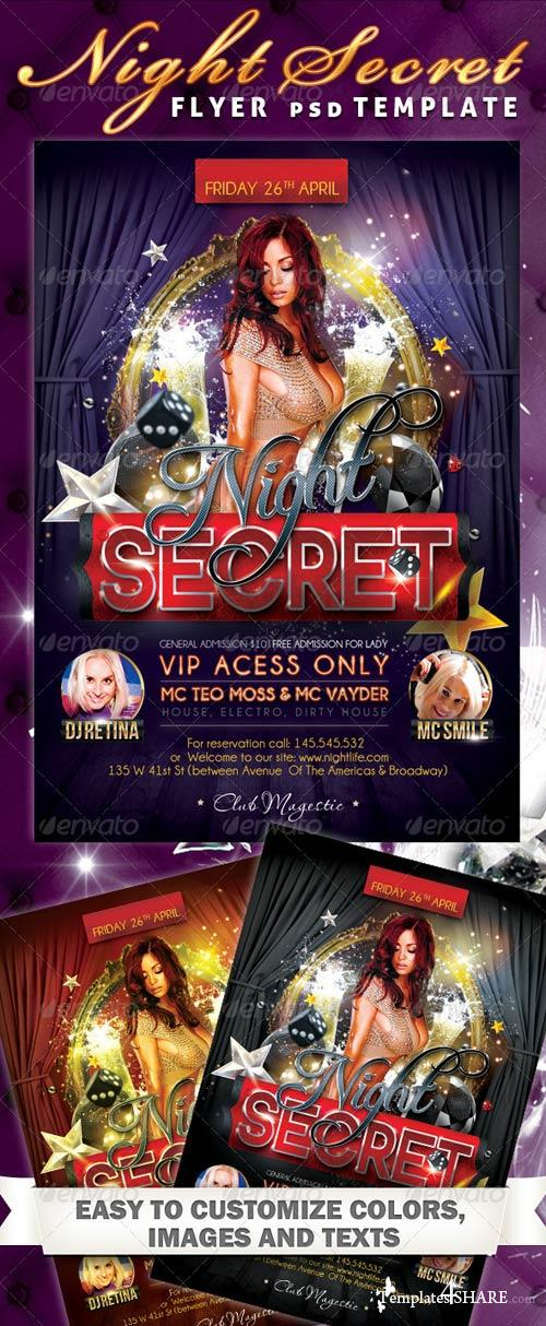 GraphicRiver Night Secret Flyer PSD Template