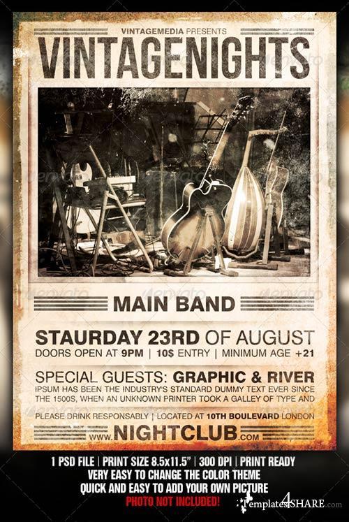 GraphicRiver Vintage Concert Flyer