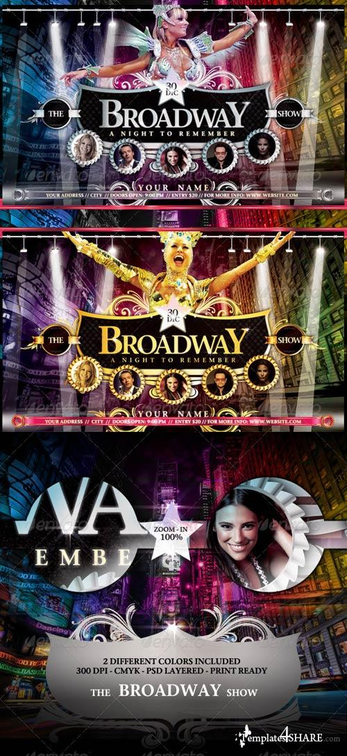 GraphicRiver The Broadway Show Flyer Template