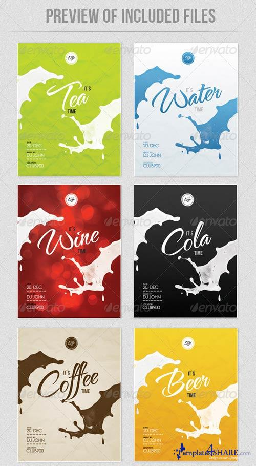 GraphicRiver Drinks - Flyer Template