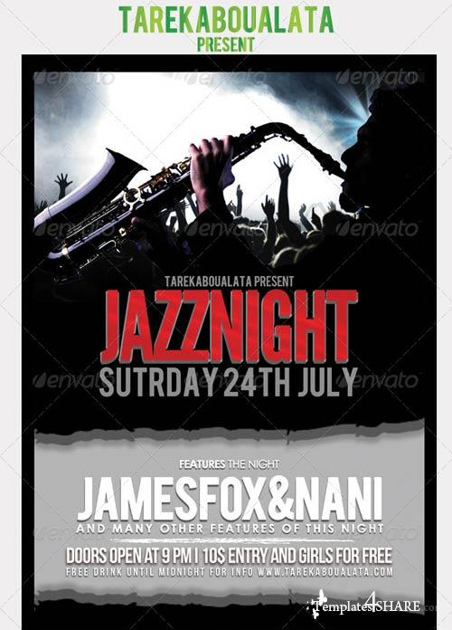 GraphicRiver Jazz Night Flyer