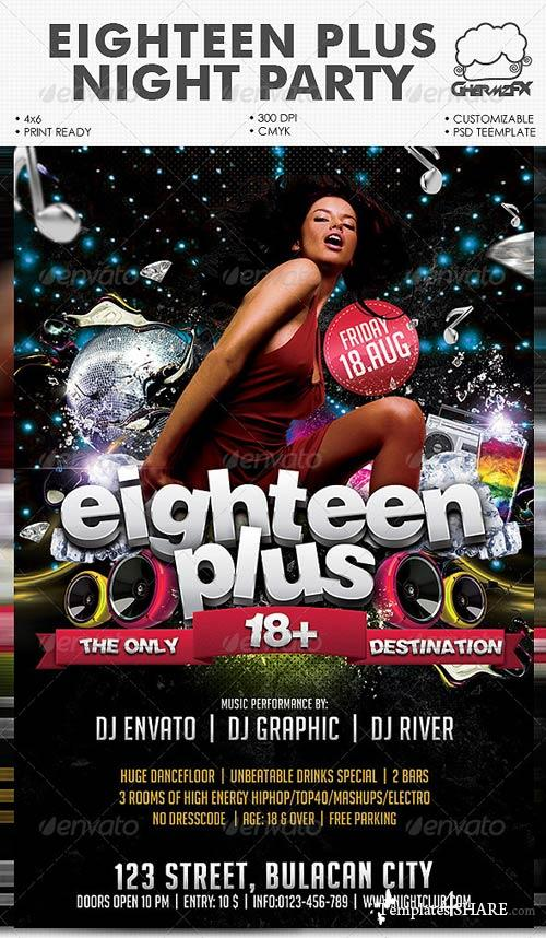 GraphicRiver Eighteen Plus Night Party Template