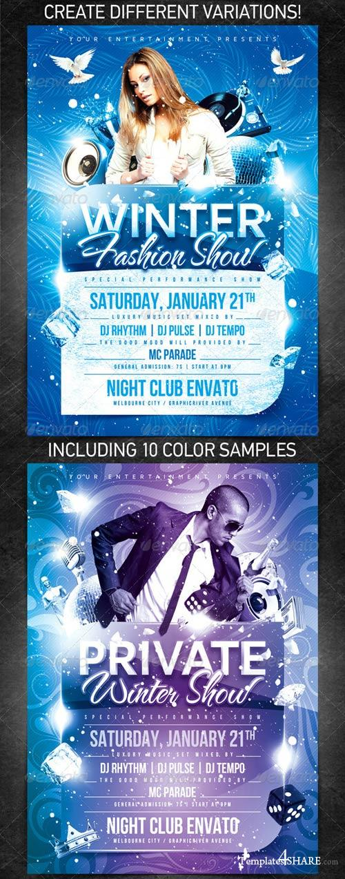 GraphicRiver Private Winter Show Flyer